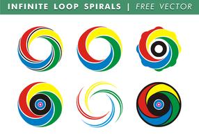 Oändlig slinga spiraler fri vektor