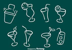 Skizzenhafte Cocktail-Ikonen