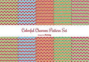 Bunte Chevron Pattern Set