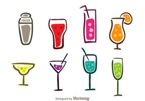 Bunte Cocktail Icons