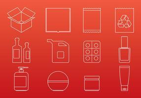Verpackungs-Ikonen