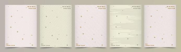 Cover-Set mit Linienmustern und Pastellfarben