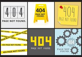 404 Bildschirme vektor
