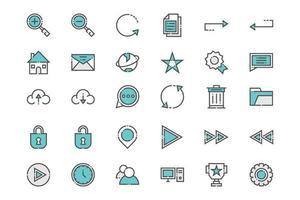 wichtige Web- und App-Symbole vektor
