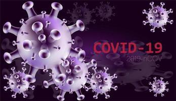 covid-19 2019-ncov glänzend lila