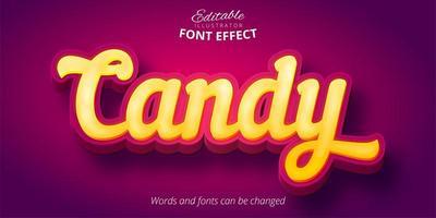 Candy Yellow 3D Font Effekt