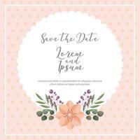gepunkteter Hintergrund speichern Sie die Datumskarte