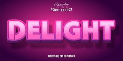 herrlicher rosa Texteffekt vektor
