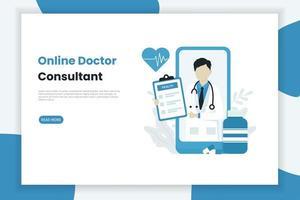 online-hälso- och sjukvårdskoncept vektor