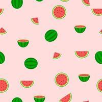sömlösa mönster av vattenmelon bitar