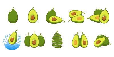Avocado-Elementsatz