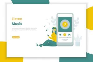 Online-Musik-Landingpage-Vorlage vektor
