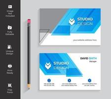 blå transparenta vinklar visitkort