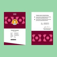 rosa negativt utrymme hexagon ID-kort