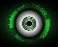 grünes futuristisches Auge für Sicherheit vektor