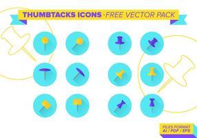 Thumbtacks icons kostenlos vektor pack