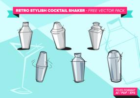 Retro stilvolle Cocktail Shaker Free Vector Pack