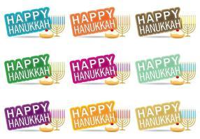 Glad Hanukkah vektor