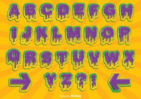 Halloween alphabet gesetzt vektor