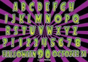Halloween Alfabet Set vektor