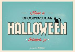 Typografisk Retro Halloween Illustration