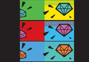 Gratis Enkel Pop Art Facebook Cover
