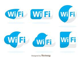 Blå wifi symbol vektor