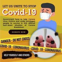 covid-19 medvetenhetsaffischdesign vektor
