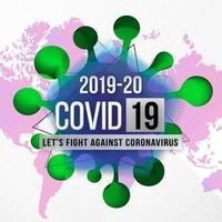 covid-19 medvetenhetsaffisch om sjukdomar som sprider sig över hela världen vektor