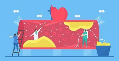 kardiologi platt stil designkoncept vektor