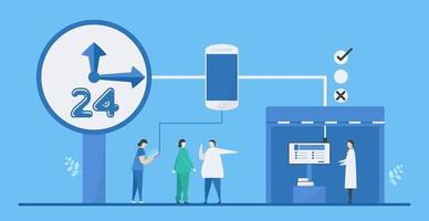 digital hälsa 24 timmars blandningsteknologi vektor