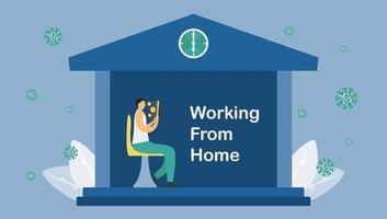 arbetar hemifrån