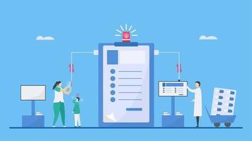 blandning av teknik för digital hälsodesign vektor