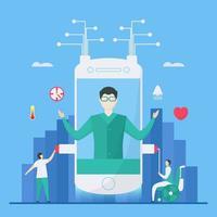 digitales Gesundheitsdesignkonzept vektor