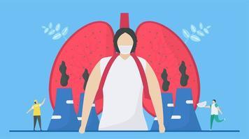 Luftverschmutzung beeinträchtigt die Funktion der Lunge vektor