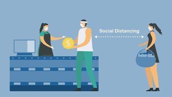 social distans i snabbköpet