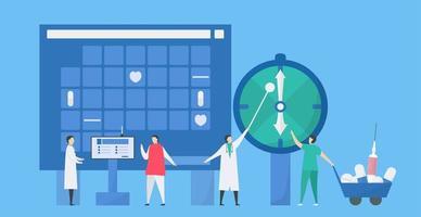 tidsplanering för möte med läkare vektor