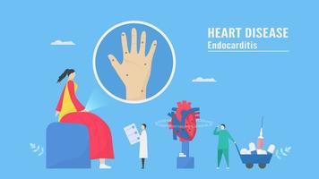 Komplikationsmanagement für Herzkrankheiten vektor