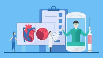 Konzept der Elemente der Behandlung hypertropher Kardiomyopathie