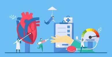 hypertrofisk kardiomyopati sjukdom koncept vektor
