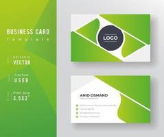 grön vågig lutning visitkortsmall