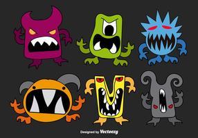 Handgezeichnete Monster vektor