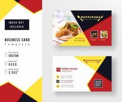 Visitenkartenvorlage für Restaurant und Café vektor