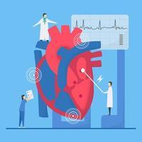 arytmi koncept med läkare påpekar oegentligheter vektor