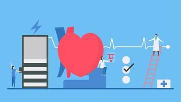 diagnostik av bradykardiarytmi som visar långsam respons vektor