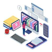 weibliches Kommissionierbuch in der Online-Bibliothek