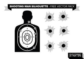 Schießen Mann Silhouette Free Vector Pack