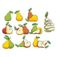 tecknad päron samling vektor