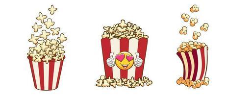 Popcorn Eimer Set vektor