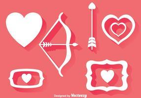 Kärlek Element Ikoner